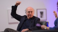 Comedian Larry David  speaks on stage at the VIP Closing Dinner during Advertising Week 2015 AWXII at Sotheby's, New York City, October 1, 2015.  (Andrew Toth/Getty Images for AWXII)