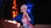 Dame Helen Mirren speaking at the Mix and Play ceremony