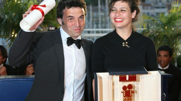 Etgar Keret with Shira Geffen at Cannes Film Festival in 2007. Getty Images