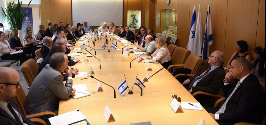 A session at the International Coordination Forum for the Restitution of the Holocaust Era Assets held at the Ministry of Foreign Affairs on June 8 and 9. (Elram Mandel/MFA)