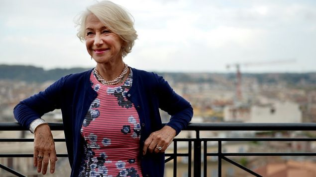 """Helen Mirren poses during a photo-call for the release of the movie ''Woman in Gold"""" on October 2, 2015 in Rome. Getty Images"""