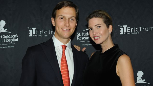 Jared Kushner and his wife Ivanka Trump at the Trump National Golf Club in Bedminster, N.Y., Sept. 21, 2015. JTA