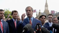 Leader of UKIP & Vote Leave campaign Nigel Farage speaks to media following results of the EU referendum on June 24, 2016. Getty