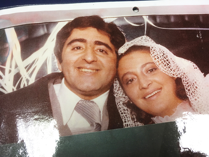 Alberto and Graciela Zeilicovich on their wedding day.