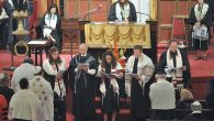 Members of the 2016 HUC-JIR rabbinical class reading their class prayer at an ordination ceremony this month in Cincinnati. JTA