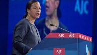 National Security Adviser Susan Rice speaking to the American Jewish Committee's annual Washington conference, June 6 2016. JTA