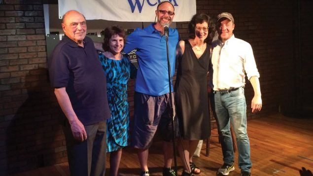 Contest winner George Saltz, left, with Rina Blech, Geoff Kole and honorable mentions Jane Schapiro and Paul Oberman.