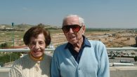 Dr. Howard and Lottie Marcus in Israel in 2005. Lottie died in December at 99; Howard died in 2014 at 104.