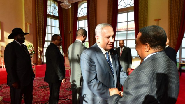 Benjamin Netanyahu meets African leaders in Uganda ( JINI Photo Agency, LTD)