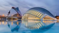 The City of Arts and Sciences, a space-age cultural complex that soars above the waterfront. Wikimedia Commons