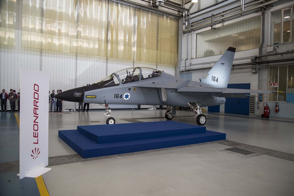 An Israeli Air Force M-346 Lavi jet trainer aircraft. (Defense Ministry)