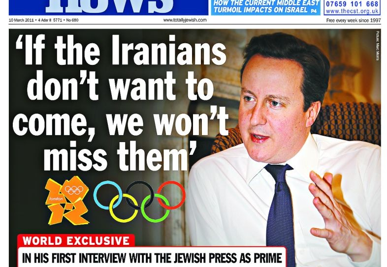 David Cameron defiant on Iran at the Olympics, 11 March 2011