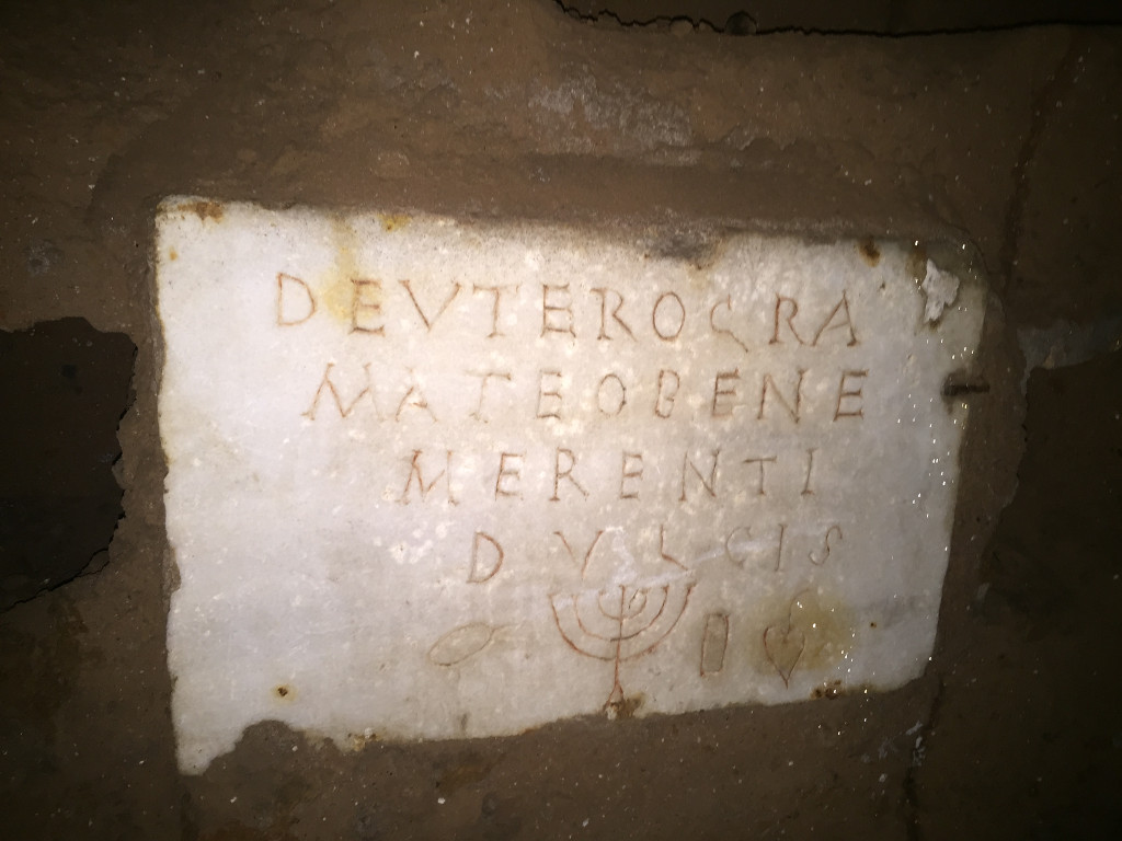 Inside the catacombs buried history ties jews to ancient for Big fish script