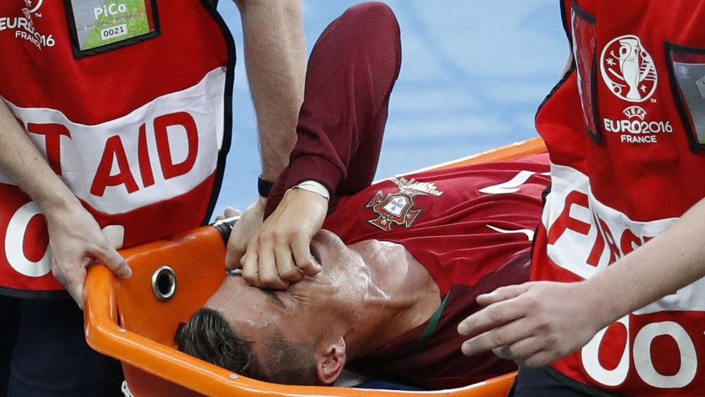 Injured Ronaldo Leaves European Final in Tears for 2nd Time