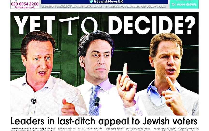 Cameron, Miliband and Clegg fight for votes before the general election, 30 April 2015