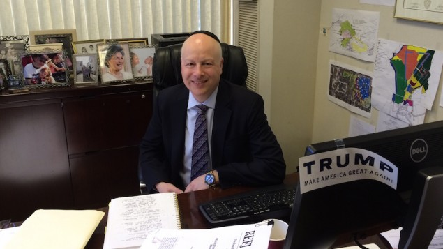 Jason Dov Greenblatt, Donald Trump's top real estate lawyer and an Orthodox Jew, is one of three members on the Republican nominee's Israel Advisory Committee. (JTA/Uriel Heilman)