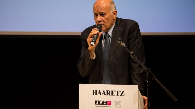 Jibril Rajoub speaking during his keynote