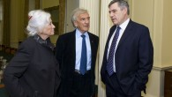 Marion & Elie Wiesel meeting Gordon Brown whilst he was Prime Minister