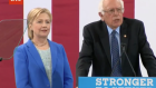 Bernie Sanders endorsing Hillary Clinton after conceding the Democratic Presidential candidacy