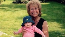 Sharon Berger with a young member of the family.