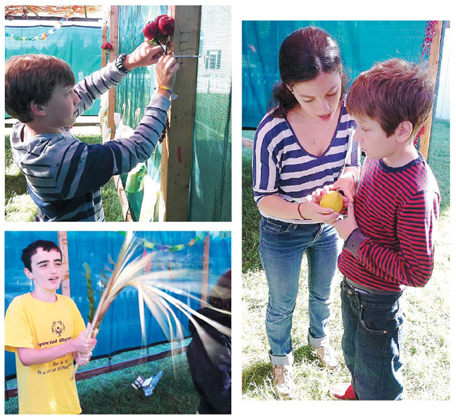 Children in a Matan program celebrate Sukkot.