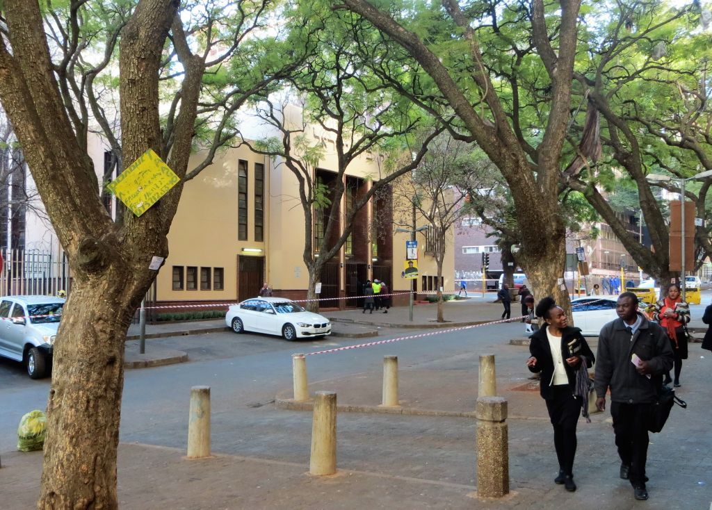 Temple Israel in Hillbrow, Johannesburg, July 2016 Courtesy)