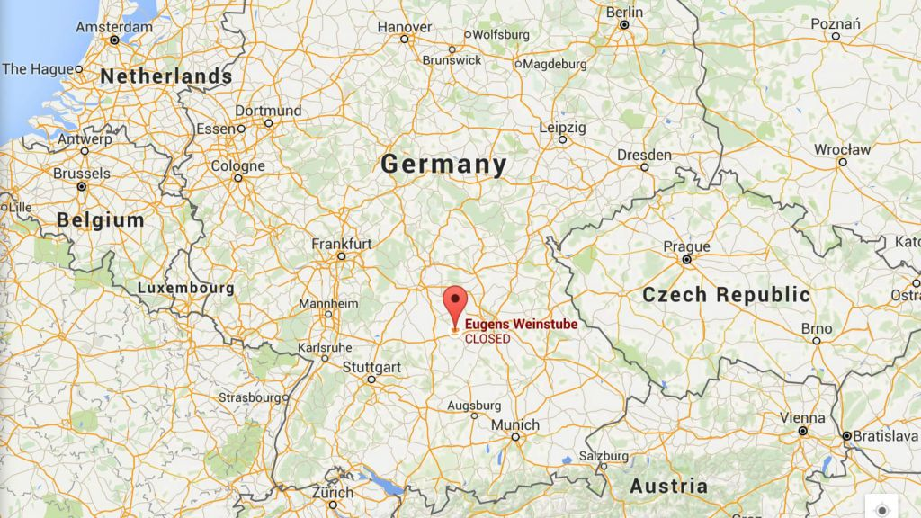Suspected bomber killed in German wine bar explosion – Southern Germany Map