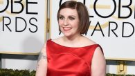 Lena Dunham arrives on the red carpet for the 72nd Annual Golden Globe Awards. Getty images