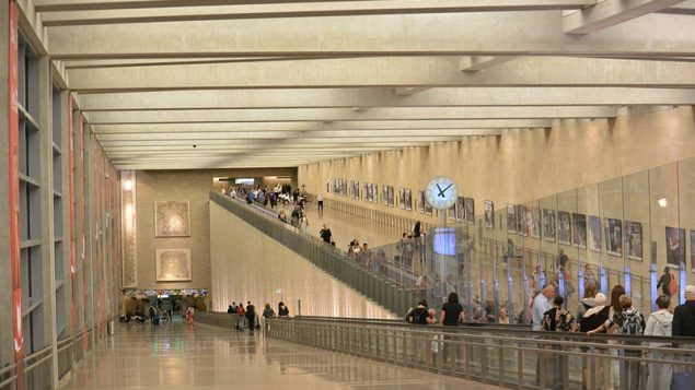 Ben Gurion airport, where one of the three was arrested. Jotpe, Wikimedia Commons