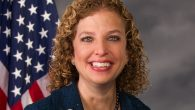 Debbie Wasserman Schultz sitting for an interview at the Wynn Resorts Ltd.