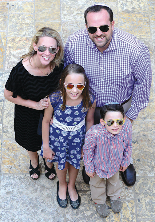 Dori, Rabbi David-Seth, Elias, and Evie Kirshner spent time together in Israel last week.
