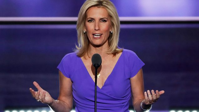 Laura Ingraham delivers a speech on the third day of the Republican National Convention. Photo by Alex Wong/Getty Images