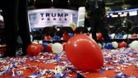 Balloons and confetti are seen at the end of the fourth day of the Republican National Convention on July 21, 2016. Getty Images