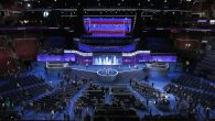 Preparations for the DNC, which kicks off today. Getty.