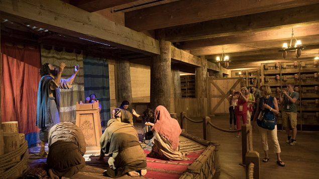 One of the displays inside the Ark Encounter museum. Getty.
