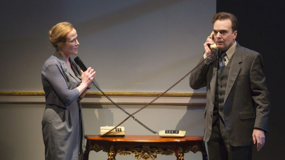 "Jennifer Ehle and Jefferson Mays in a scene from ""Oslo. T. Charles Erickson"
