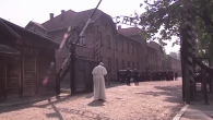 Pope Francis visiting Auschwitz, July 29, 2016. Screenshot from YouTube