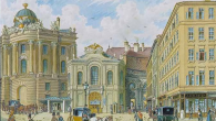 """The Old Burgtheater,"" by Franz Gerasch is a Nazi-looted painting that has been recovered. Holocaust Claims Processing Office"