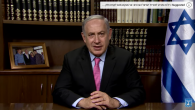 Prime Minister Benjamin Netanyahu addressing Arab citizens in a video message. Screenshot via youtube.com