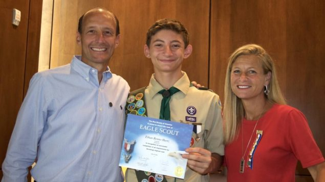 Sinai Member Earns Eagle Scout at 14 1