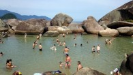 At the end of the jungle trail -  a rock pool in Trindade