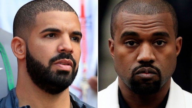 Drake (left) and Kanye West (right) have hinted they may collaborate. (Photo credit: PA/PA Wire)