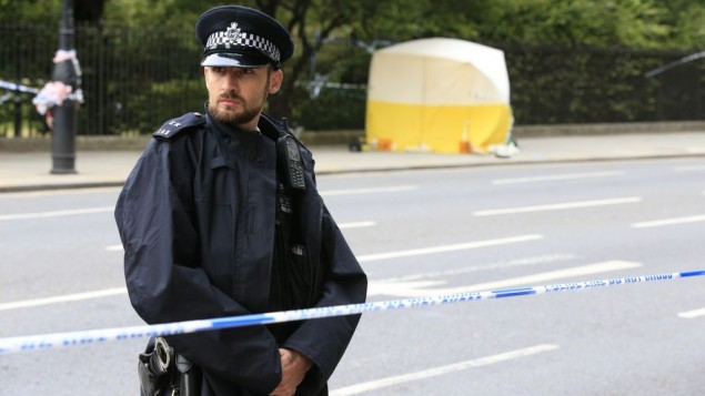 A police forensic officer at work in Russell Square after a knife attack in which a woman in her 60s was killed and five people were injured. A 19-year-old man has been arrested  Jonathan Brady/PA Wire.