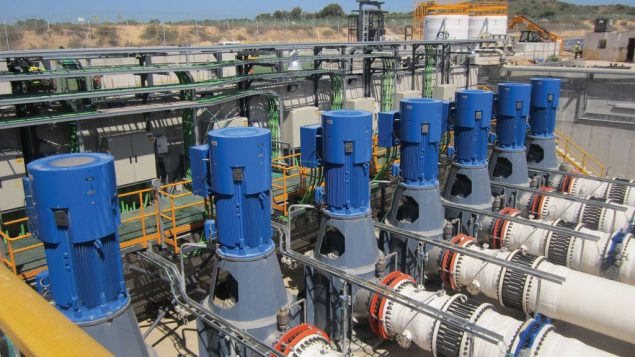 One of Israel's five desalination plants, which produce 600 million cubic meters of water a year, much of it for domestic use.