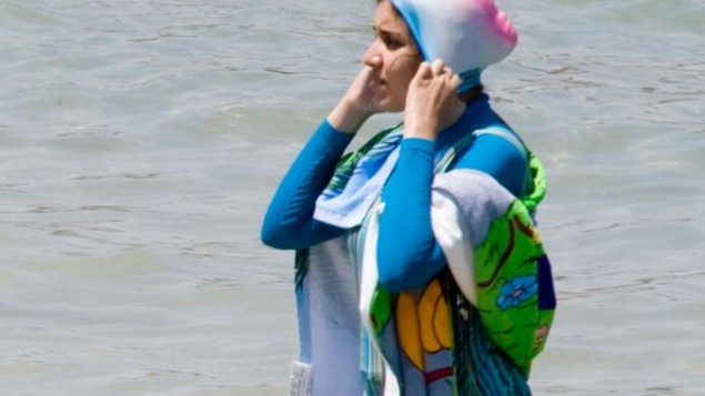 A woman in a Burkini