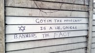 Antisemitic graffiti, London January 2016