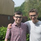 Brothers Natan and Raffi Maurer Celebrating GCSE and A Level Success