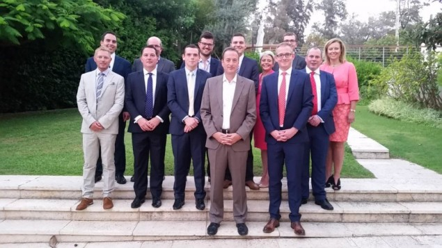 Conservative MSPs meet with UK Ambassador to Israel David Quarrey at the Ambassador's Residence