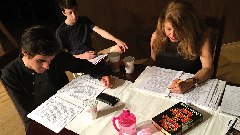 """Reading through the script for """"My Name is Asher Lev."""" (James Janoff)"""