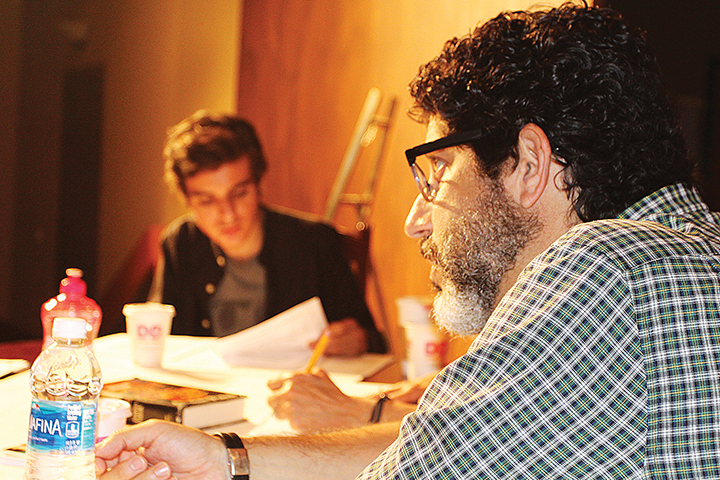 Ariel and Mark Quiles sit together at the production's first table read. (James Janoff)